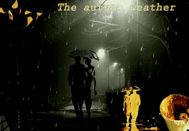 The autumn weather