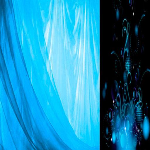 карта иллюзии с голубым