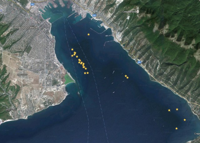 затонувших кораблей под Новороссийском