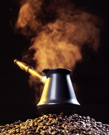 кофе в турке на зернах