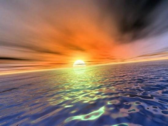 закат солнца н море