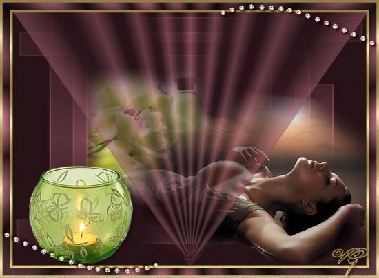 девуш и светильник