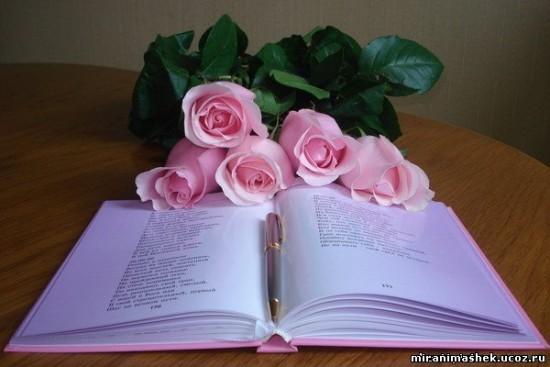 роза на книге эпигр