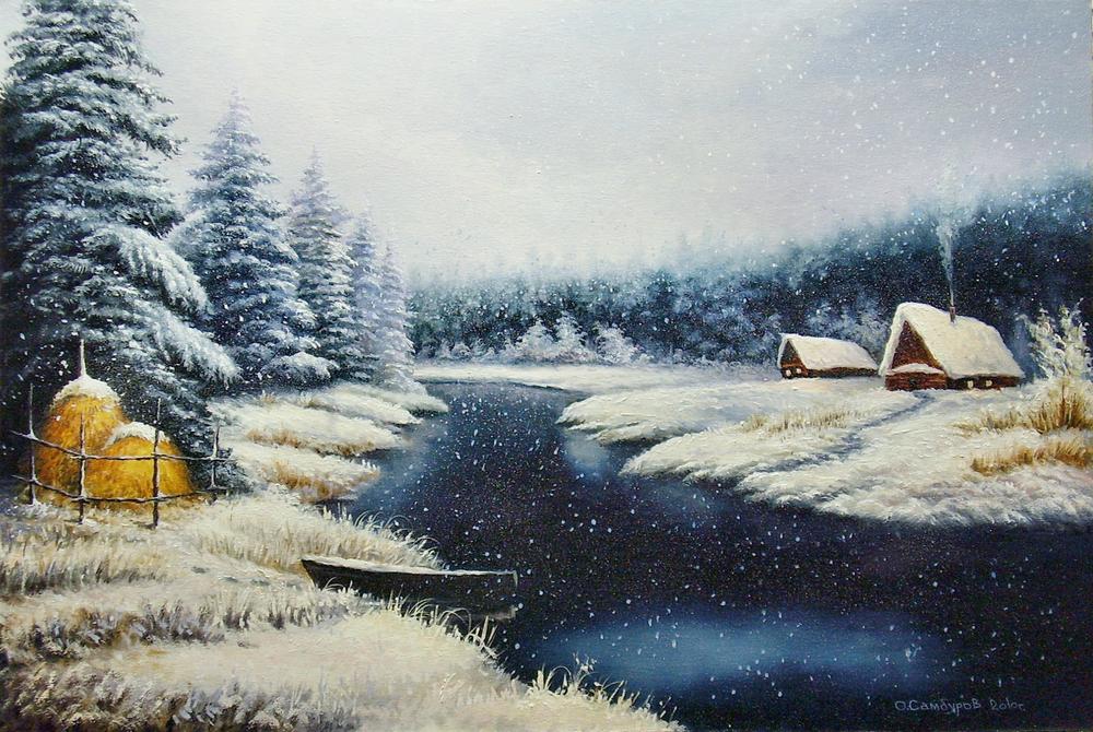 -снег идёт-мои картины