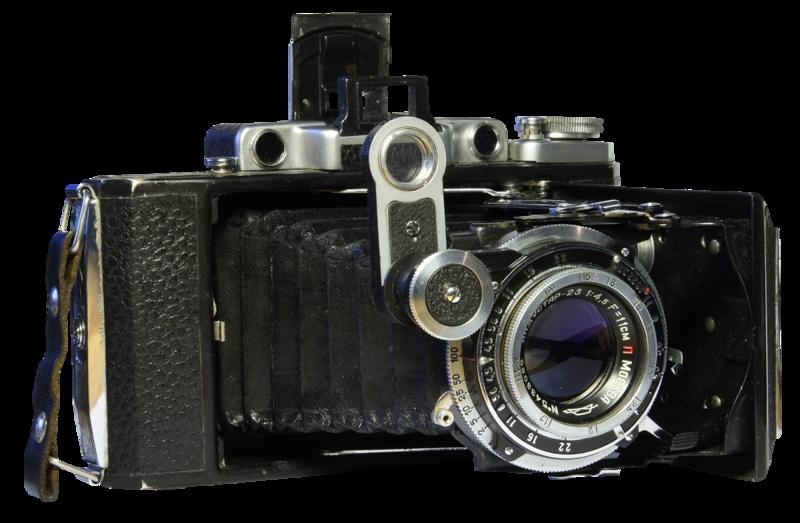 Дальномерный фотоаппарат со складным объективом
