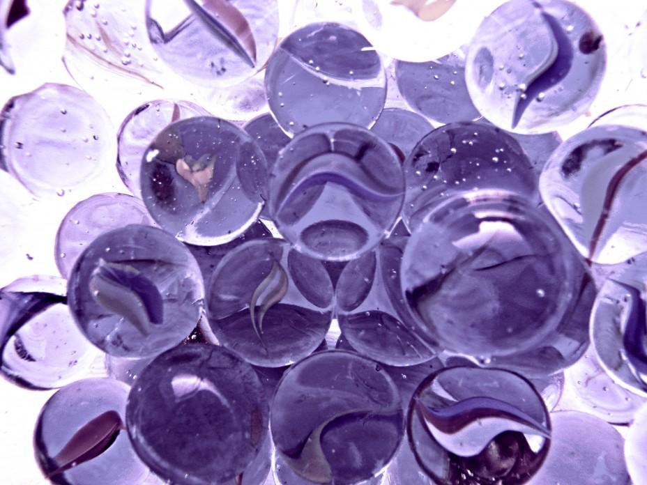 шарики стеклянные фиолетовые