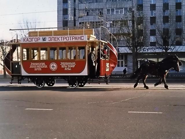 """За  """"долги """" МУП  """"Метроэлектротранс """" трамвайное движение перевели на конную тягу :-) Конка."""