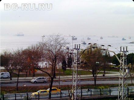 Вид из окна отеля в Стамбуле