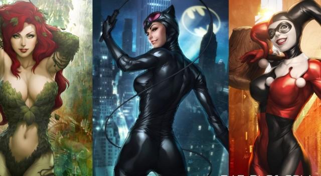 wallpaper-gotham-girls-catwoman-harley-quinn-poison-ivy