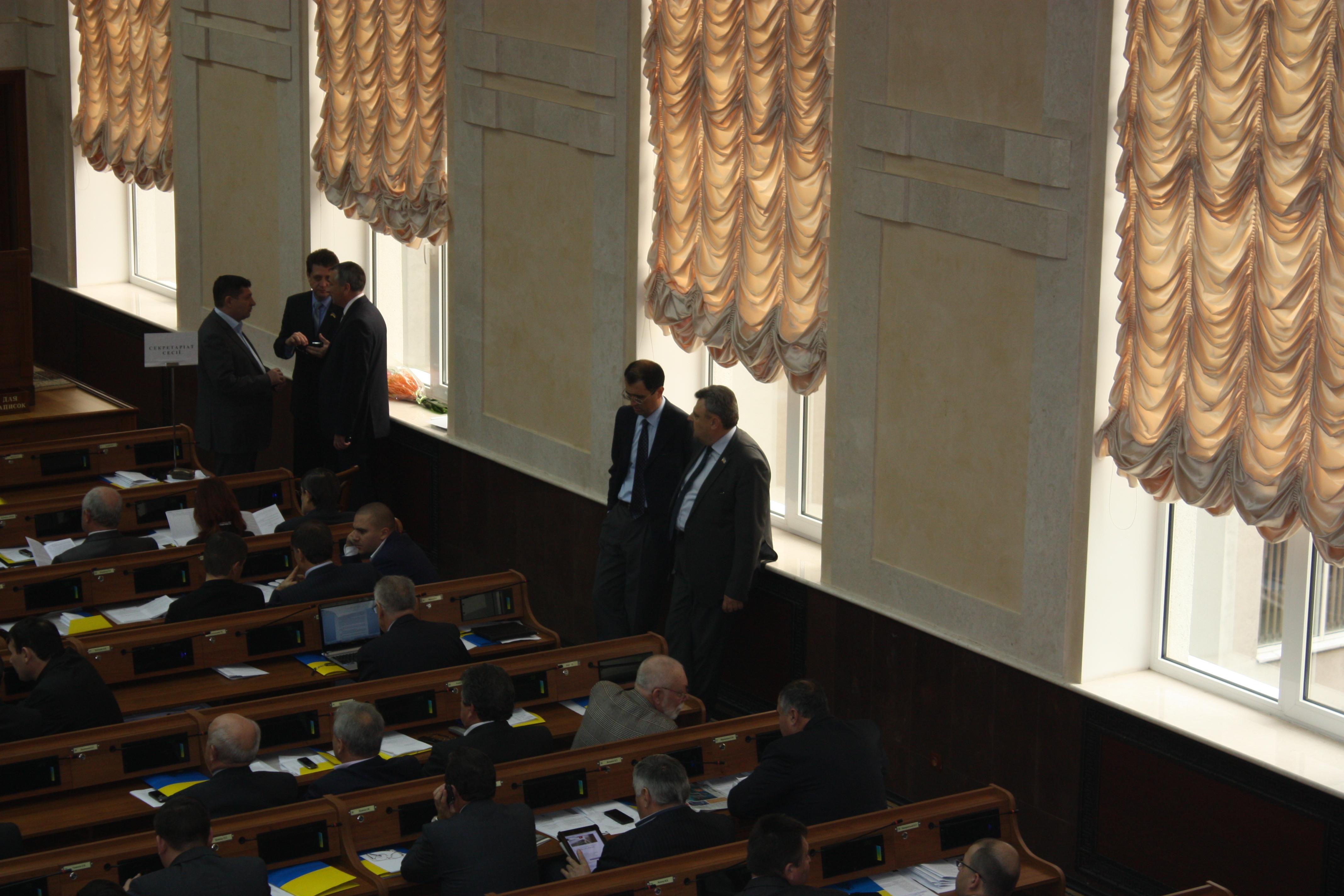 Николай Пундик в сессионном зале