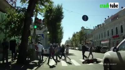 Pedestrians hit by Cars Brutal Crash Compilation HD