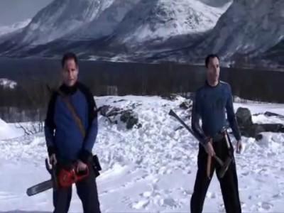"""Момент из фильма """"Операция мертвый снег"""" / """"Operation Dead Snow"""""""
