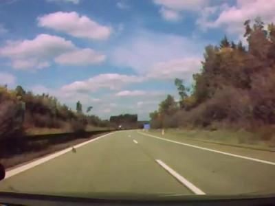 ДТП на автобане в Германии
