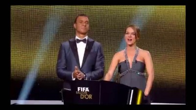 Lionel Messi winner FIFA Ballon d'Or 2012/2013   Interview With English Translation HD