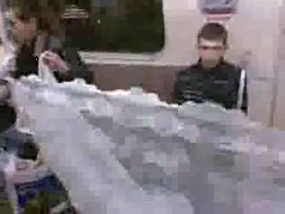 Чего только не увидишь в метро