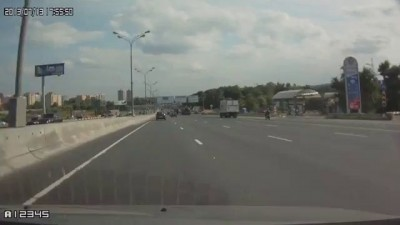 Авария на 1км МКАД, 13.07.2013