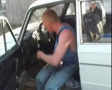 Задержание бухого водителя...