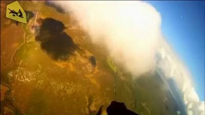 В норвежского парашютиста едва не угодил метеорит