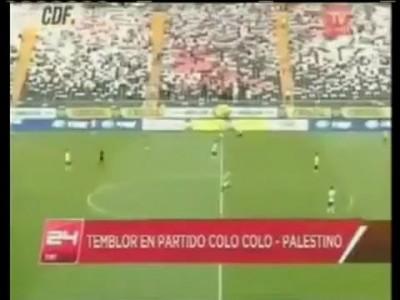 Terremoto atinge o Chile durante o jogo entre Colo Colo e Palestino - 27/03/12