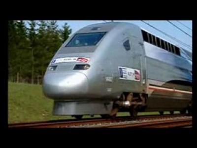Скоростной французский поезд TGV - испытание