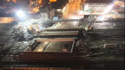 Замена ЖД моста за 3 дня