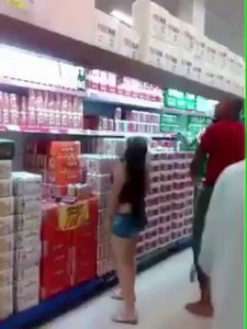 Having a tall dark stranger come to your rescue at the supermarket
