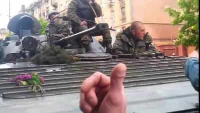 Мариуполь 09.05.14. Лица фашистов крупным планом/Ukraine, Mariupol