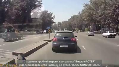 Авария в Алматы на пр.Рыскулова 11.07.2014