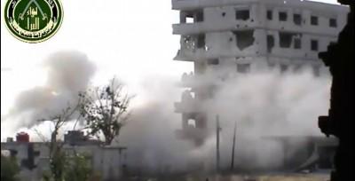 2. Повстанцы взрываются в многоэтажке захваченным бойцами Асада