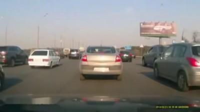 Взрыв газа в авто!