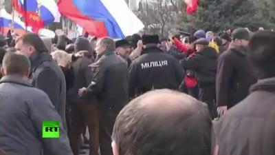 9.03.14 - Луганск. Луганская гвардия опять взяла под контроль ОДА