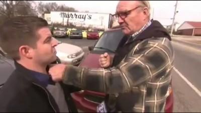 Назойливый журналист и дед