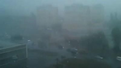 Одесса ливень 11 июля 2012, град, 12 часов дня