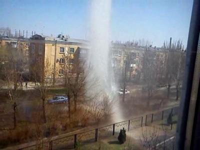 Фонтан из кипятка в г. Волжском