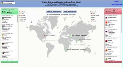 Онлайн карта рождения и смерти людей