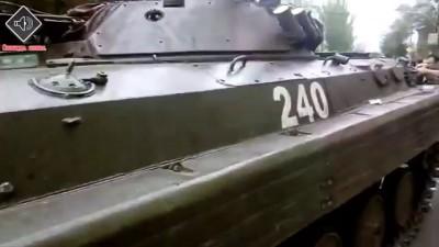 Народ Мариуполя захватил БМП