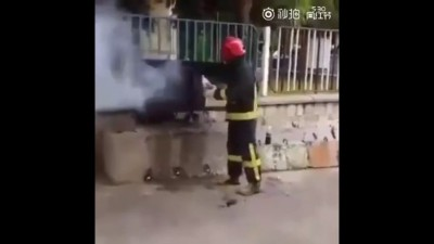 Тушим пожар колой