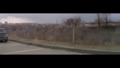 Женщина не смогла найти педаль тормоза