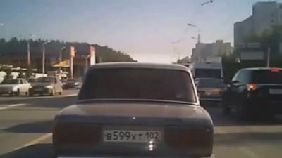 Авария на дороге в Уфе 2015