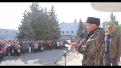 Первомайск, террорист обьяснил почему он воюет за спинами людей.