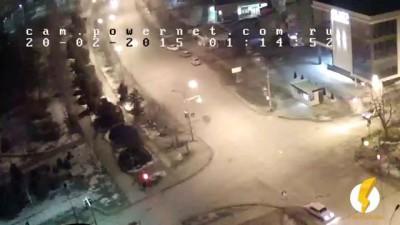 ДТП (авария) ул. Мира ул. Нариманова 20-02-2015 01-14