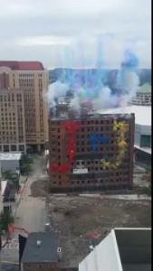 Wellington Hotel Implosion Fireworks - Albany, NY