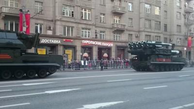 Репетиция парада в Москве без  чехлов