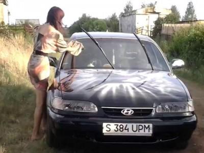 Автоледи и облюбленная ею машинка ...