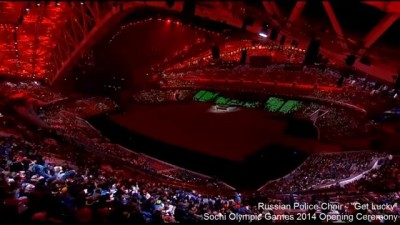 "Russian Red Army Choir Sings ""Get Lucky"" Before Sochi Opening Ceremony 2014"