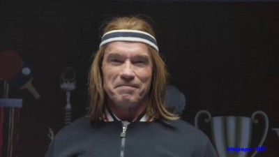 Arnold Schwarzenegger Plays Ping Pong For Bud Light || Supe