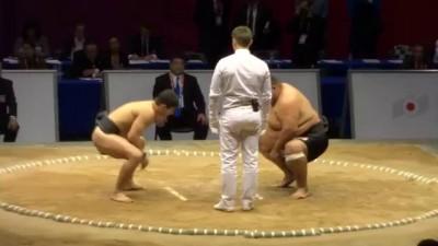 Маленький против большого в сумо