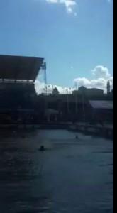 Казань FINA. Неудачный прыжок Хайдайвинг. 20 метров вышка.