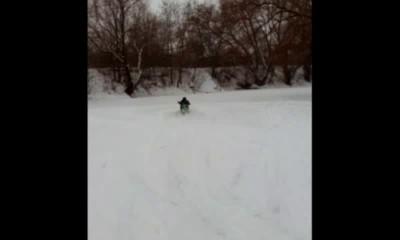 Скутер снегоход часть 3 обкатка