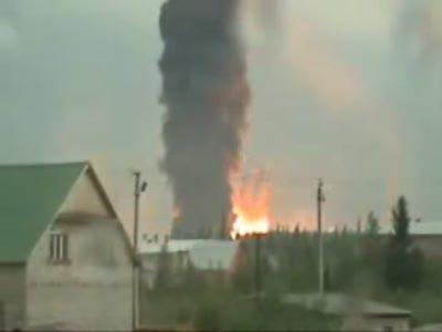 Взрыв нефтехранилища